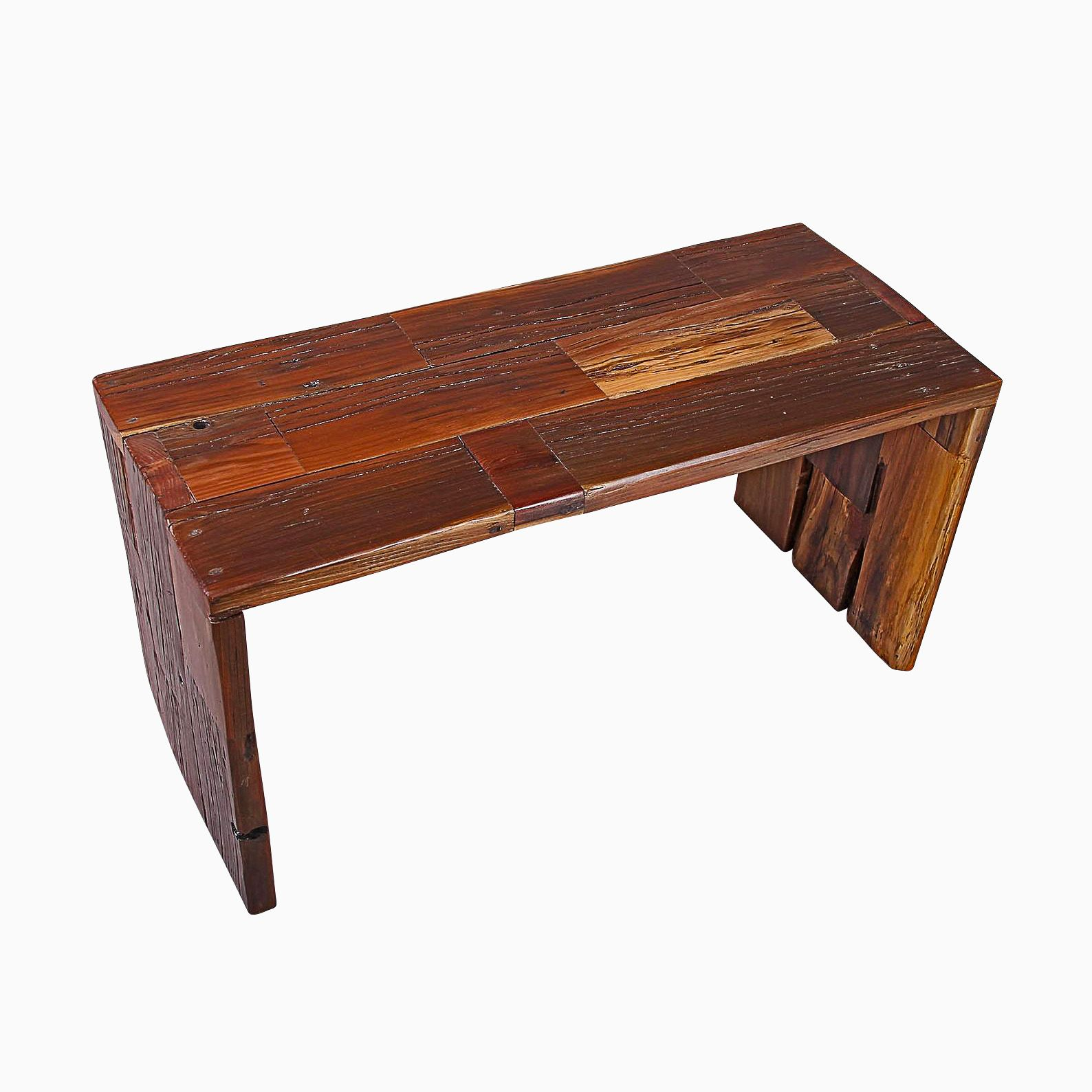 Redwood Coffee Table: Buy A Hand Crafted Reclaimed Redwood Coffee Table Or Bench