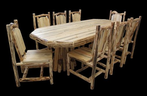 Custom Made Stump Table Dining Set