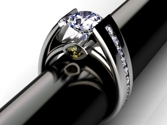 Custom Palladium Cathedral Diamond Ring By Jewelsmiths