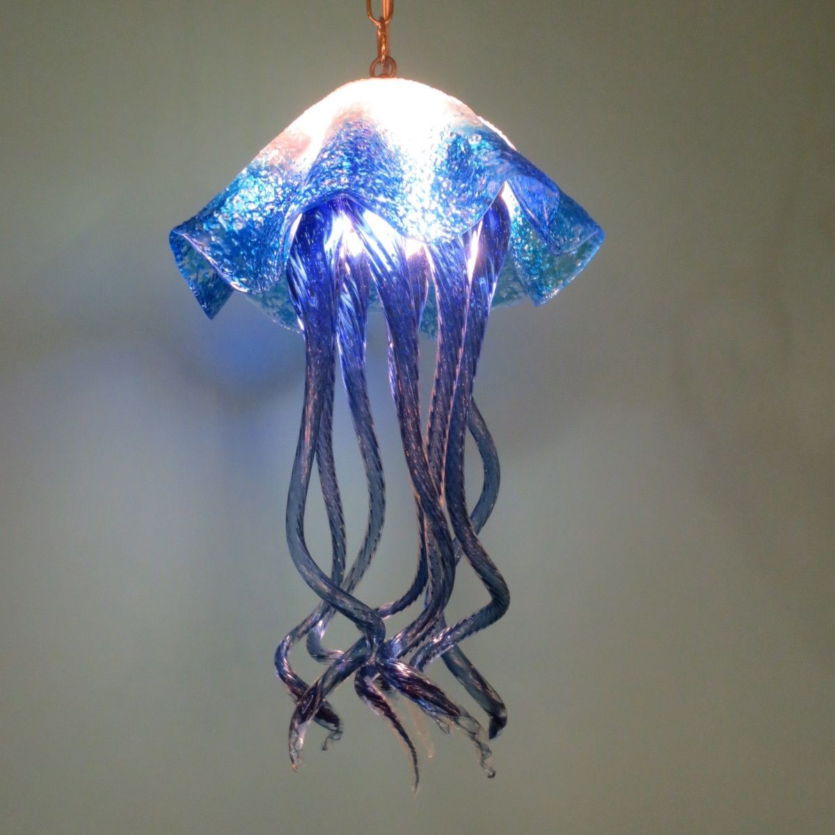 Buy A Hand Made Blown Glass Chandelier Jellyfish Light