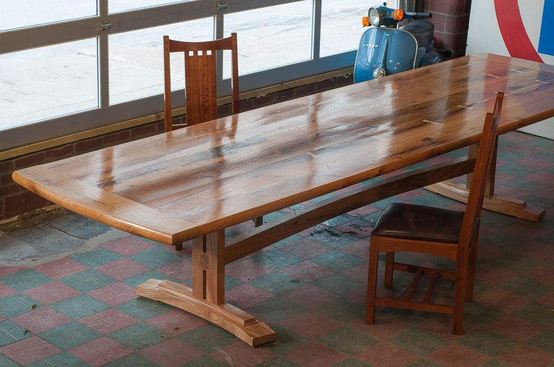 Buy A Custom Oak And Elm Barnwood Table Made To Order