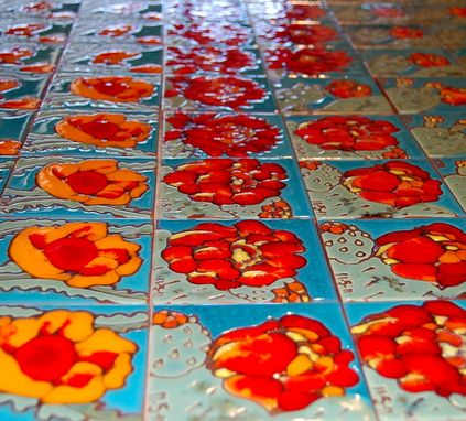 Custom Made Custom Hand Glazed Tile Wedding Favors