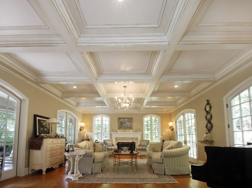 Custom made coffered ceiling system 1 by fanatic finish for Coffered ceiling styles