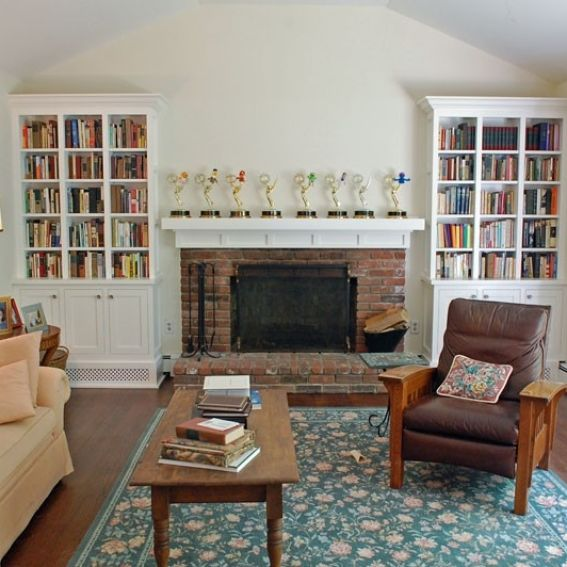 handmade shaker style living room bookcases by samuel