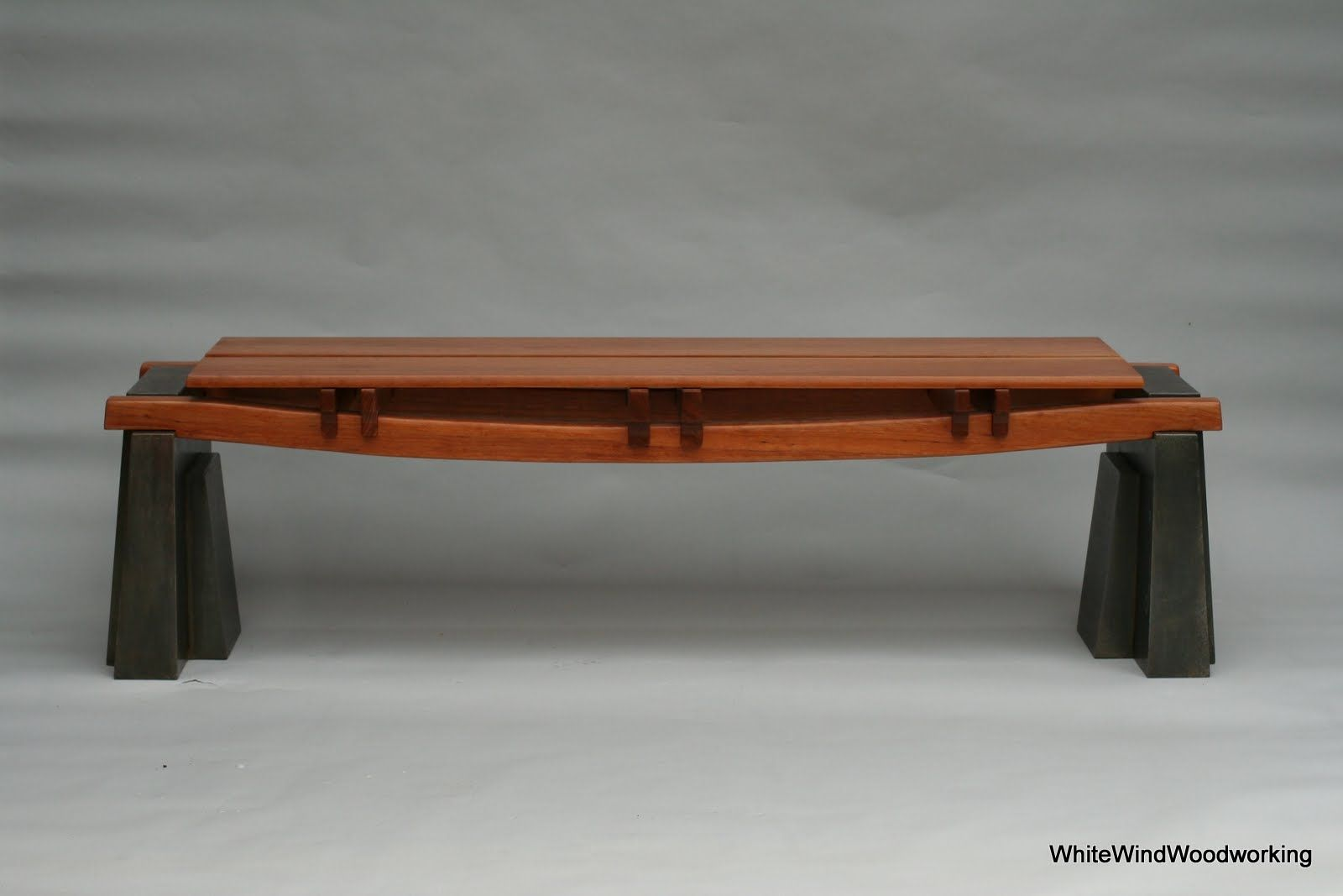 Handmade Austin Cherry Bench By White Wind Woodworking