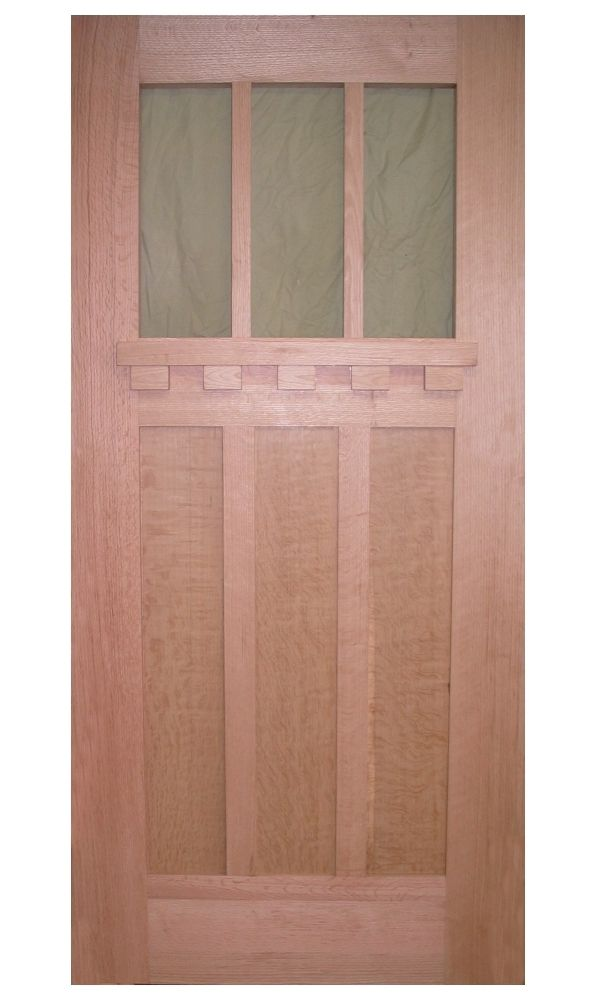 Custom made craftsman door by fred miller custom woodworks for Custom made doors