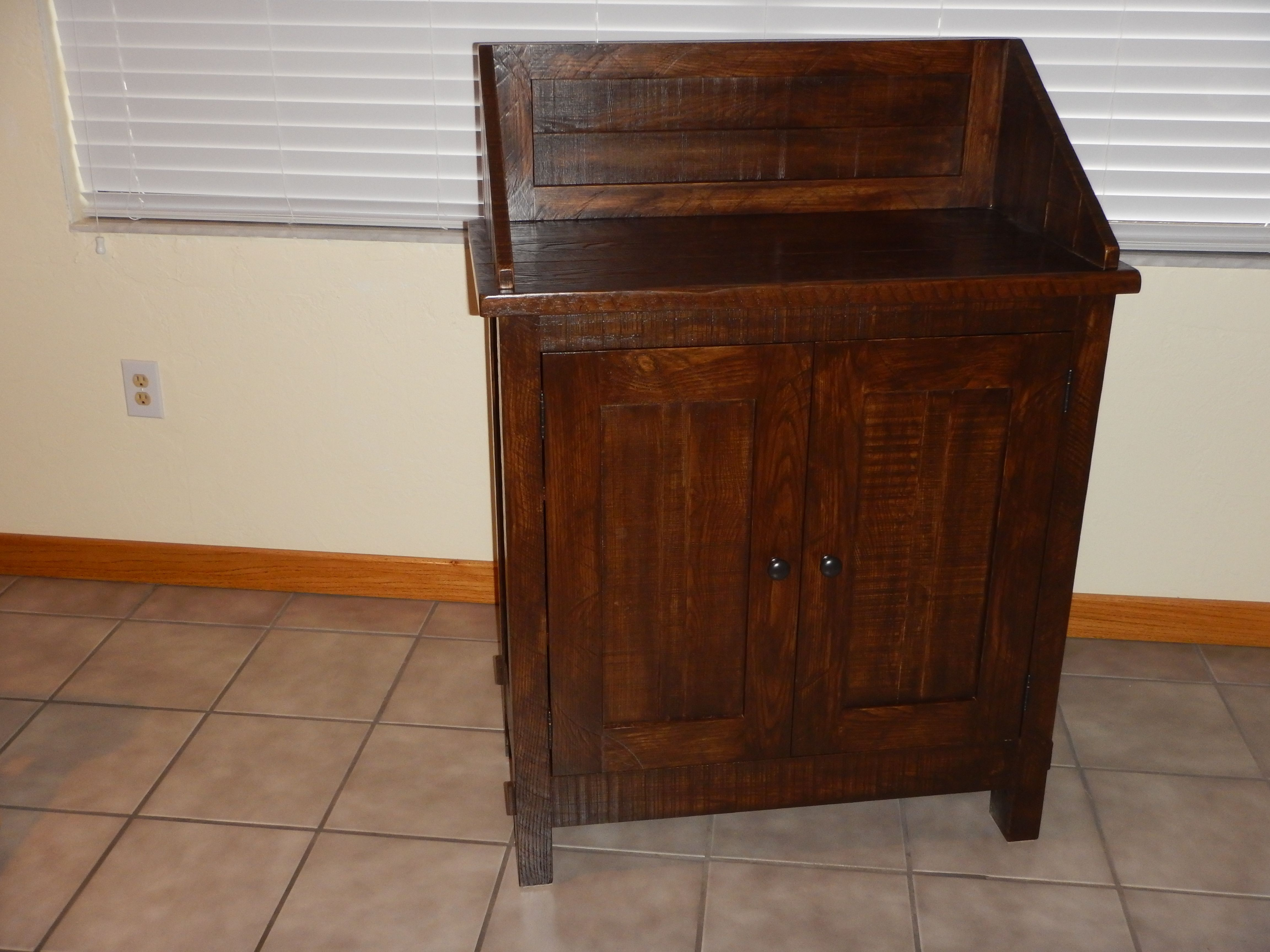 Rustic Foyer Chest : Handmade rustic foyer cabinet by naples precision craft