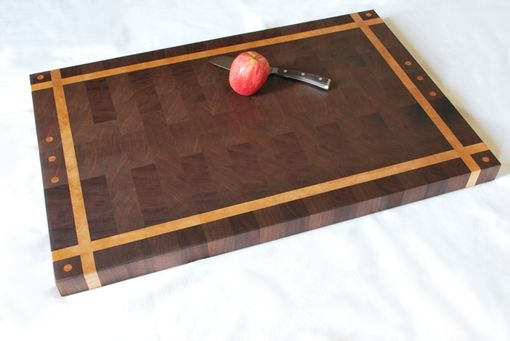 Custom Made Solid Walnut/Birch End Grain Butcher Block Cutting Board