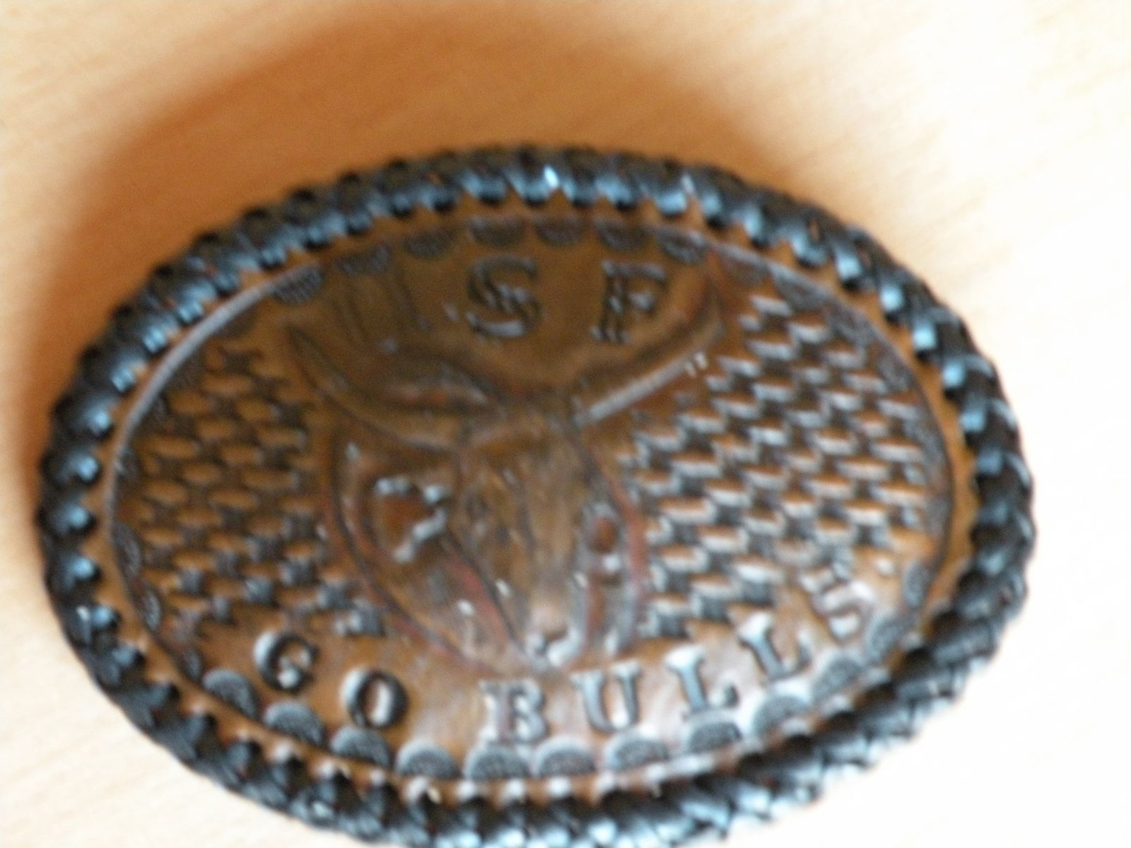 Hand Made Usf Leather Belt Buckle By Rics Leather Custommade Com