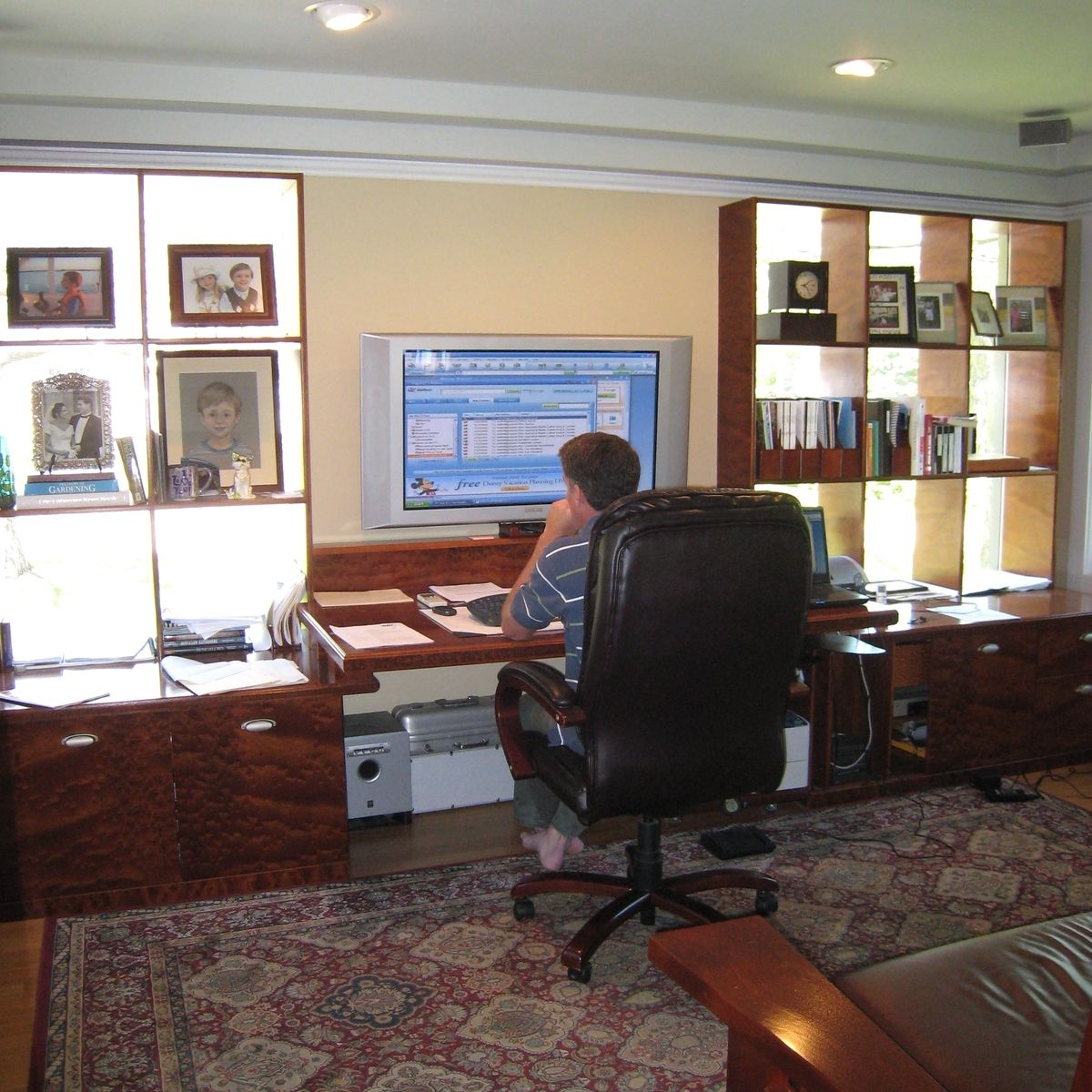 Hand Made Ct Home Office Computer Center Wall Unit By
