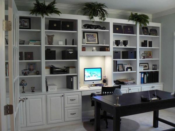 Custom made office cabinets entertainment center by the - Built in desk cabinet ideas ...