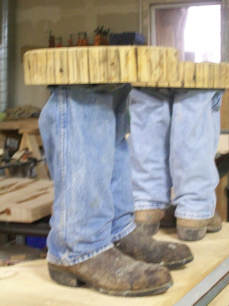 Hand Made Cowboy Boot Table By Fbt Sawmill Amp Custom Wood
