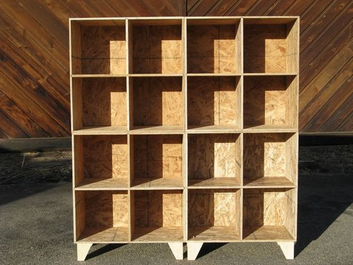 Custom Made Osb Cubby Bookcase Storage Unfinished By Modular Osb Custommade Com