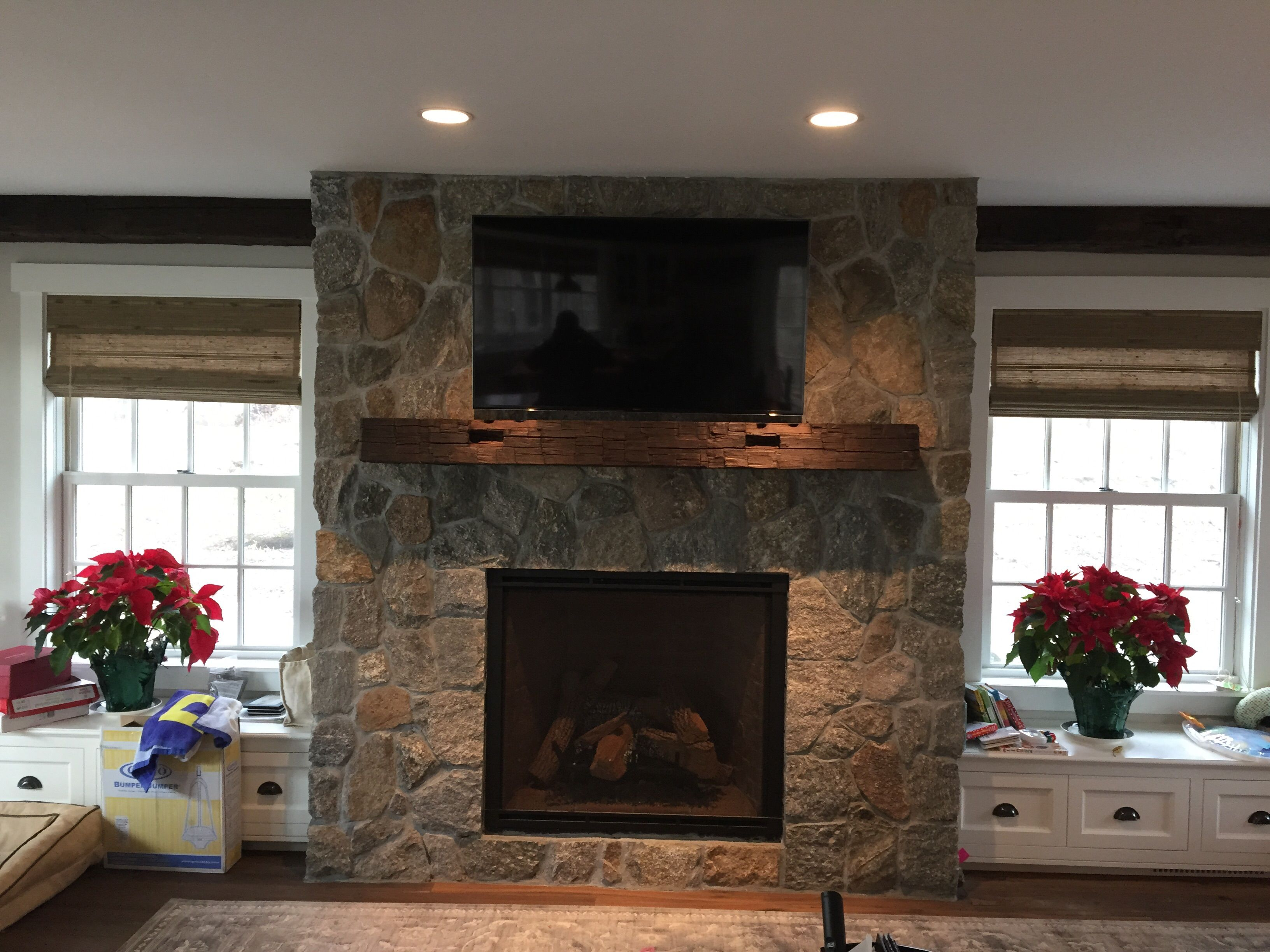 Hand Made Rustic Fireplace Mantel By M.Karl, LLC
