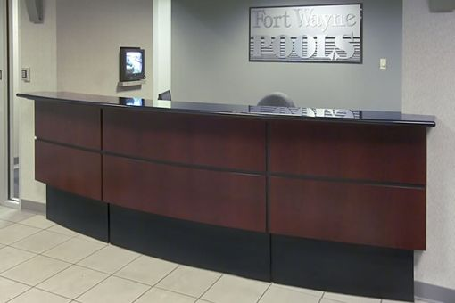 Custom Made Fort Wayne Pools Reception Desk