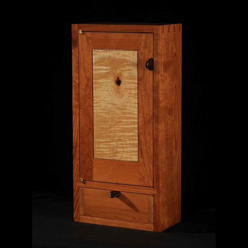 Custom made cherry maple wall cabinet by blackstone design - Custom made cabinet ...