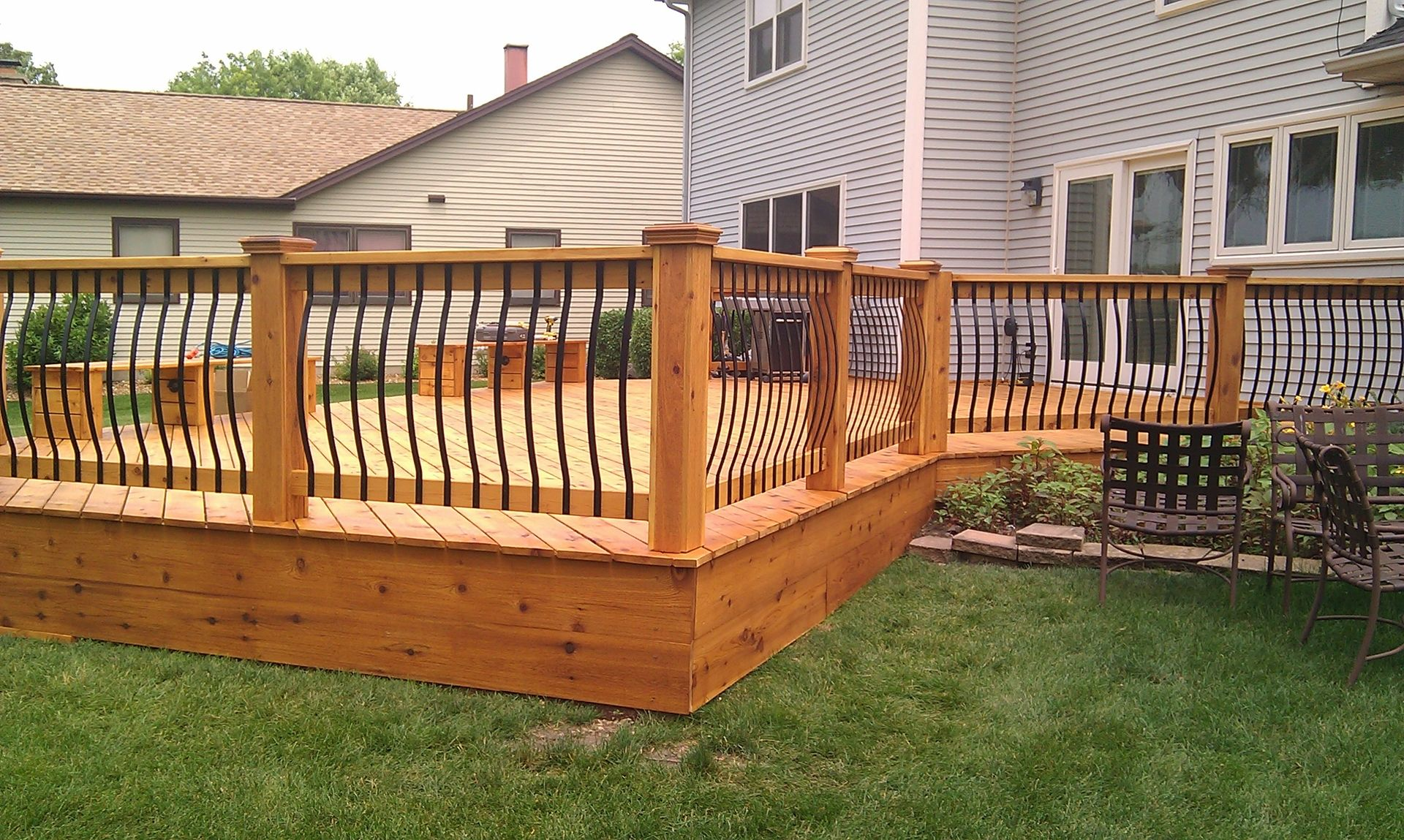 Modern Home Decor Store Hand Crafted Cedar Deck Rebuild By Lee Custom Remodeling