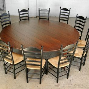 Custom made european 10 39 ft round table with flaps brown for 10 foot round table