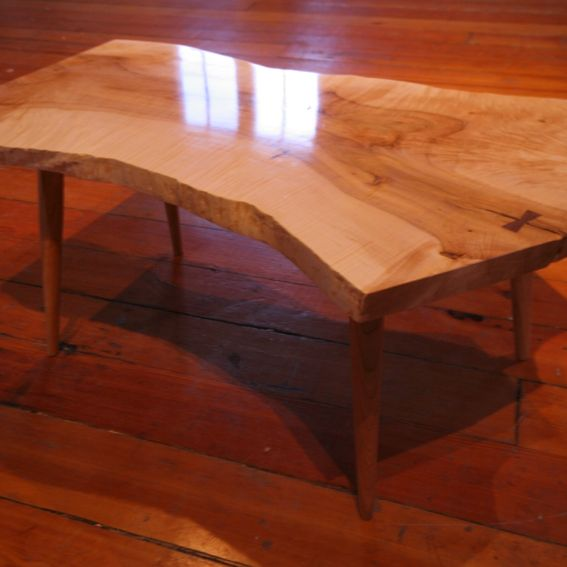 Vintage Handmade Slab Wood Coffee Table From: Hand Crafted Slab Coffee Tables By Dovetail Furniture