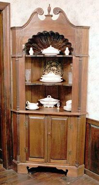 Custom Made Queen Anne Corner Cupboard