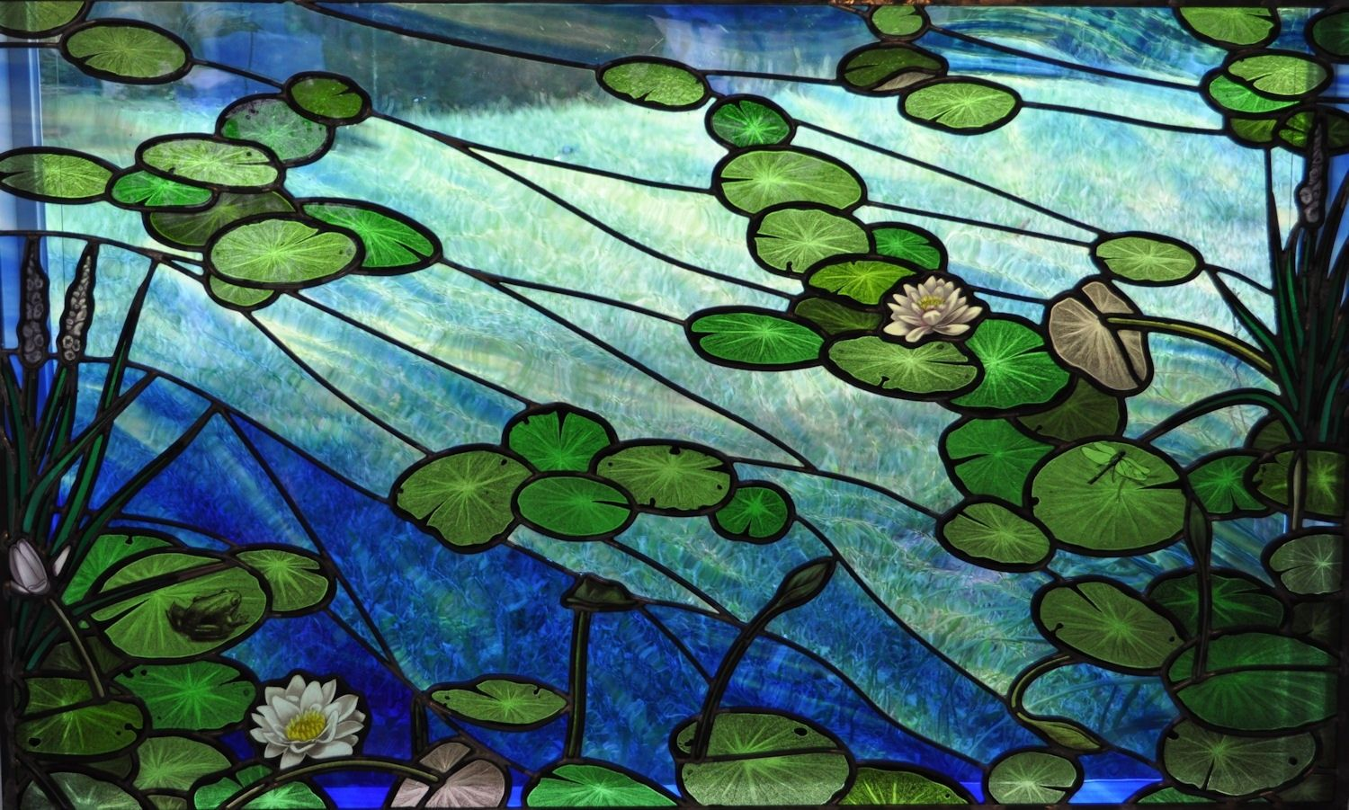 Hand Crafted Custom Quot Lily Pad Quot Painted Stained Glass