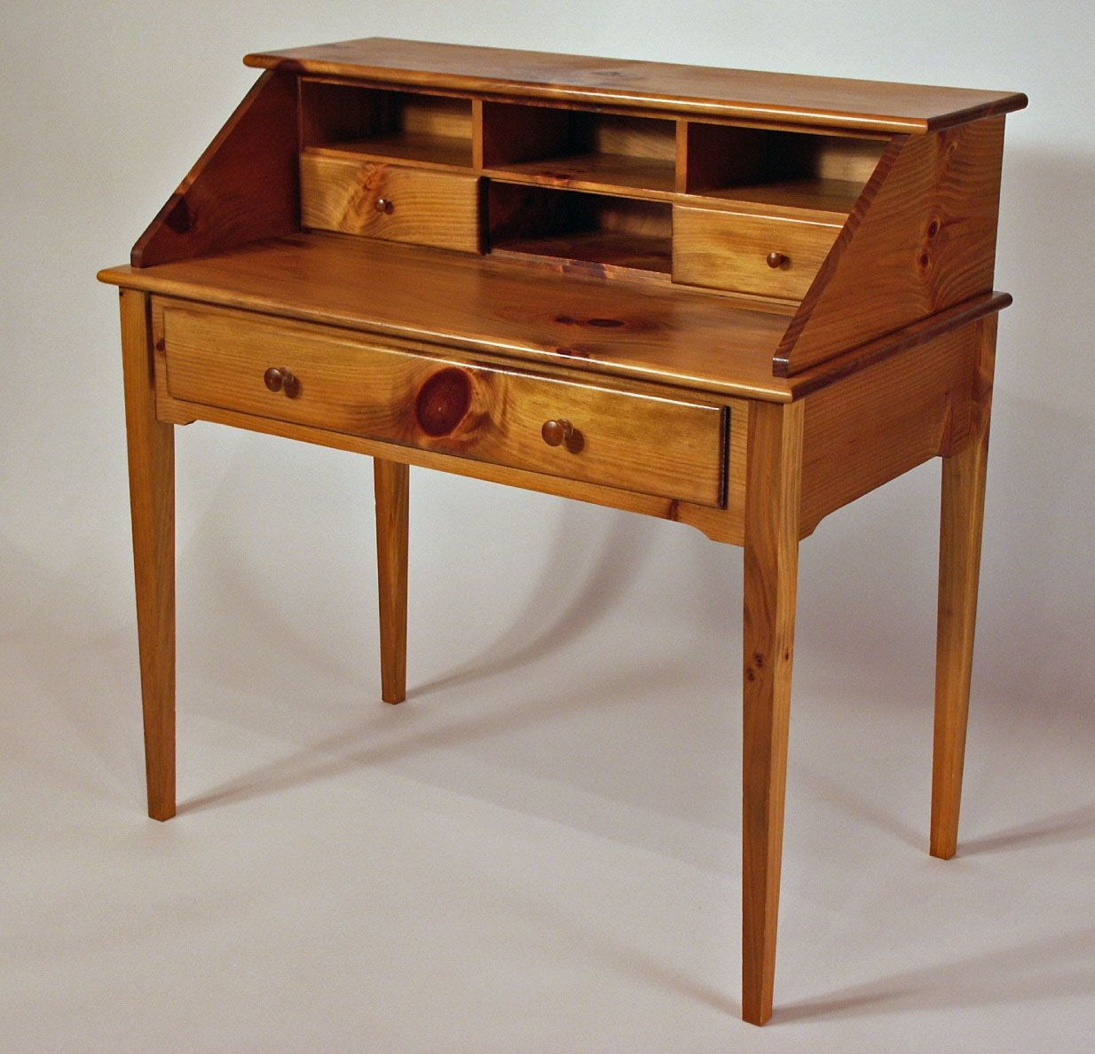 Custom Made Shaker White Pine Writing Desk By White Sands