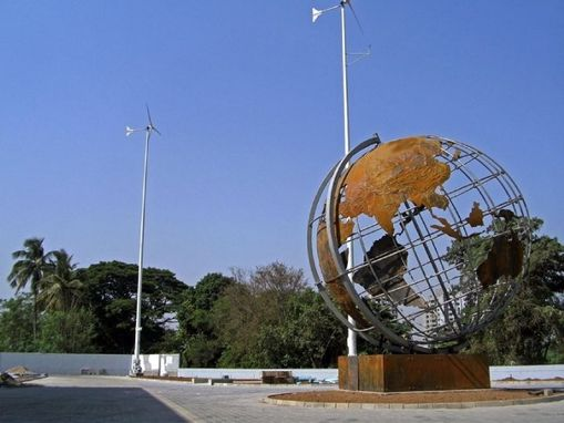 Custom Made 20' Stainless And Corten Globe