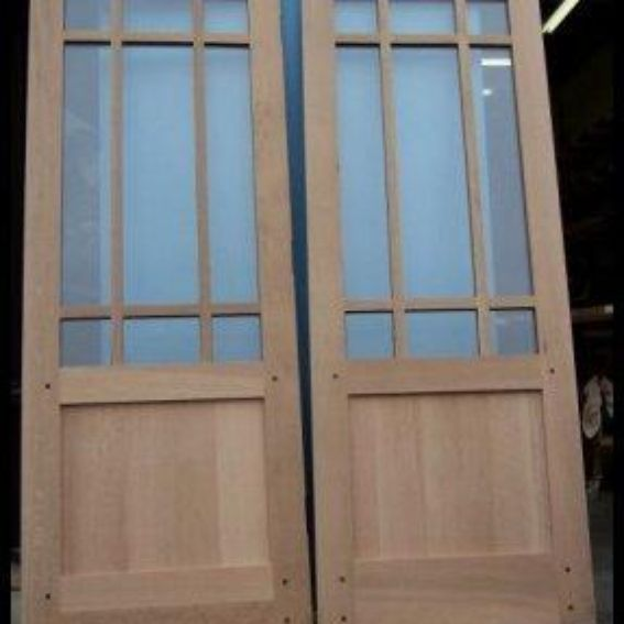 Hand Made Craftsman Style Interior French And Glazed Doors