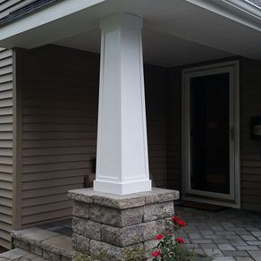 Hand crafted cloverleaf columns by blue ox millworks for 10 foot porch columns