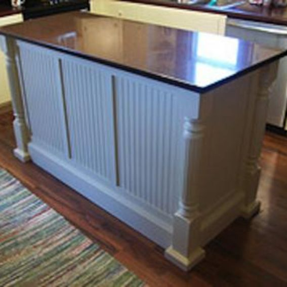 Handmade Custom Kitchen Island With Beaded Panels By Nauman Construction And Cabinet Shop