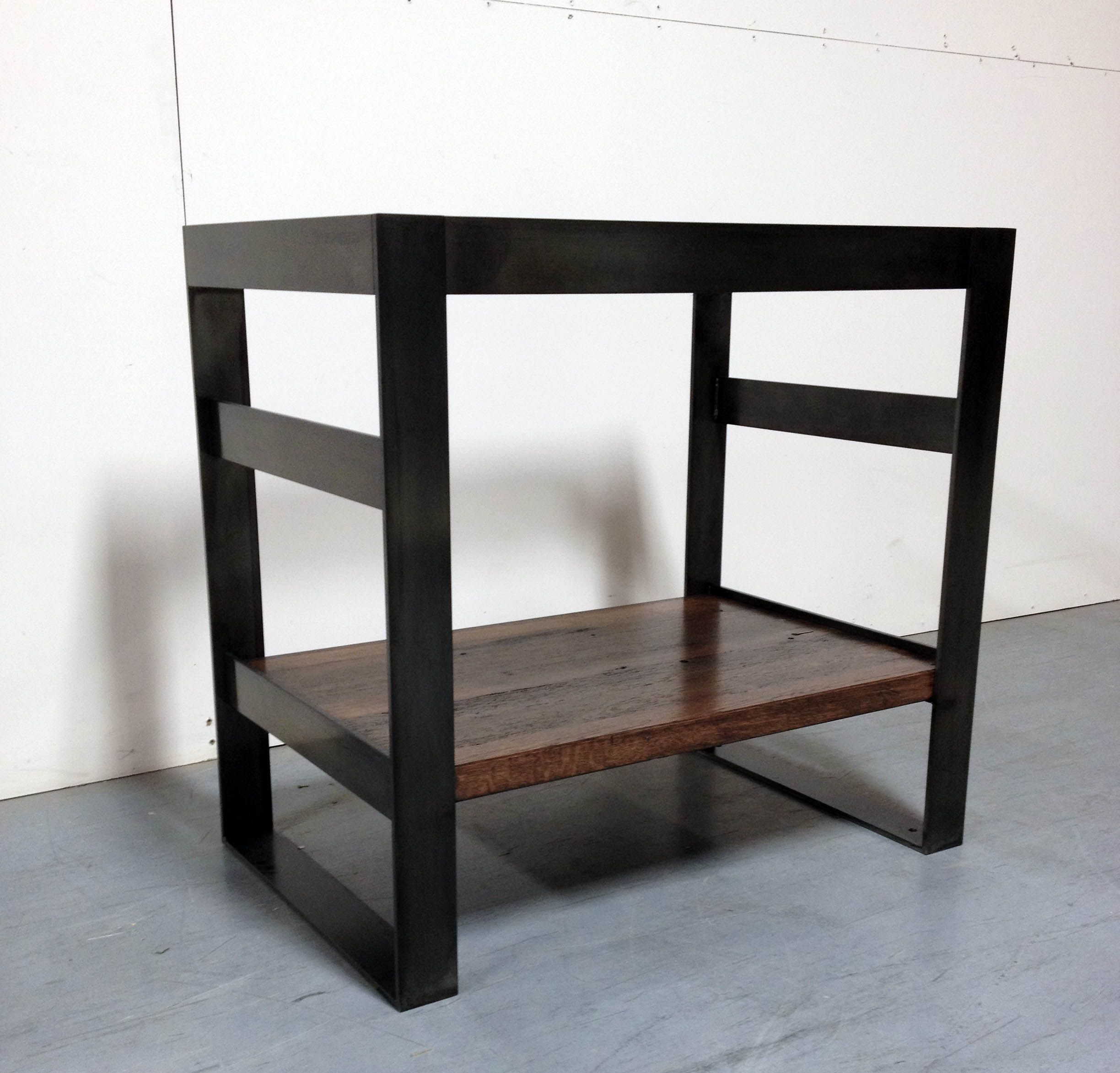 Buy A Hand Made Cold Rolled Steel And Reclaimed Oak Bath