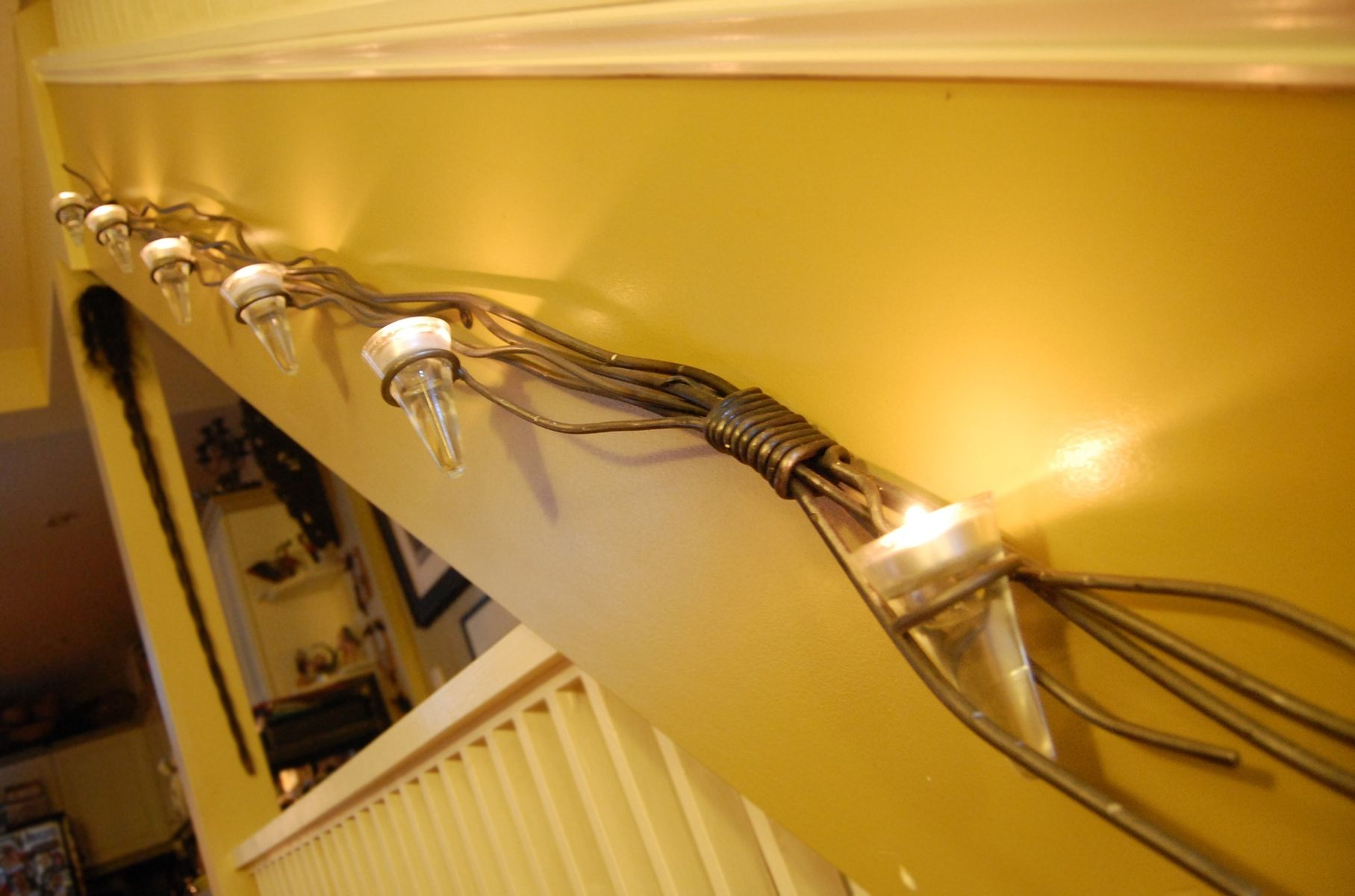 Wall Sconces Staircase : Hand Crafted Staircase Wall Sconce by Desiron Custom Metal CustomMade.com