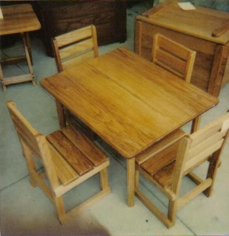 Custom Made Oak Kids Table And Chairs By Hartleroad S