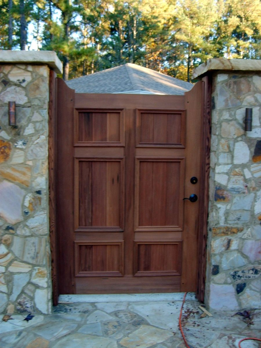 Handmade Redwood Garden Gate By Norm S Custom Woodworking