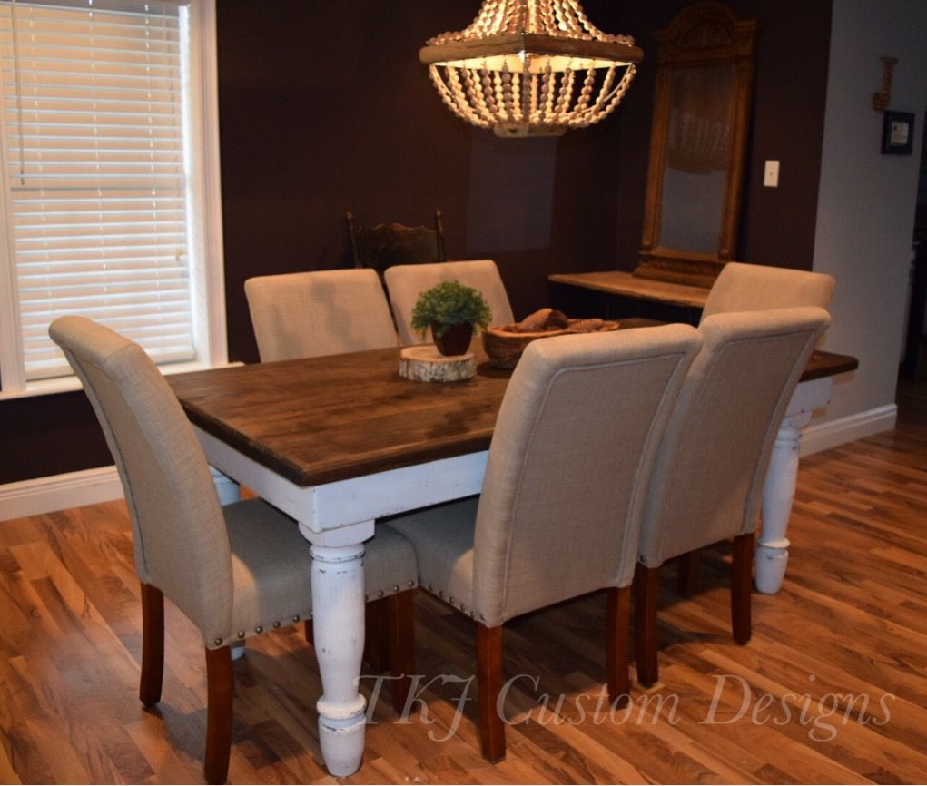 buy a handmade custom dining room table made to order from tkj custom