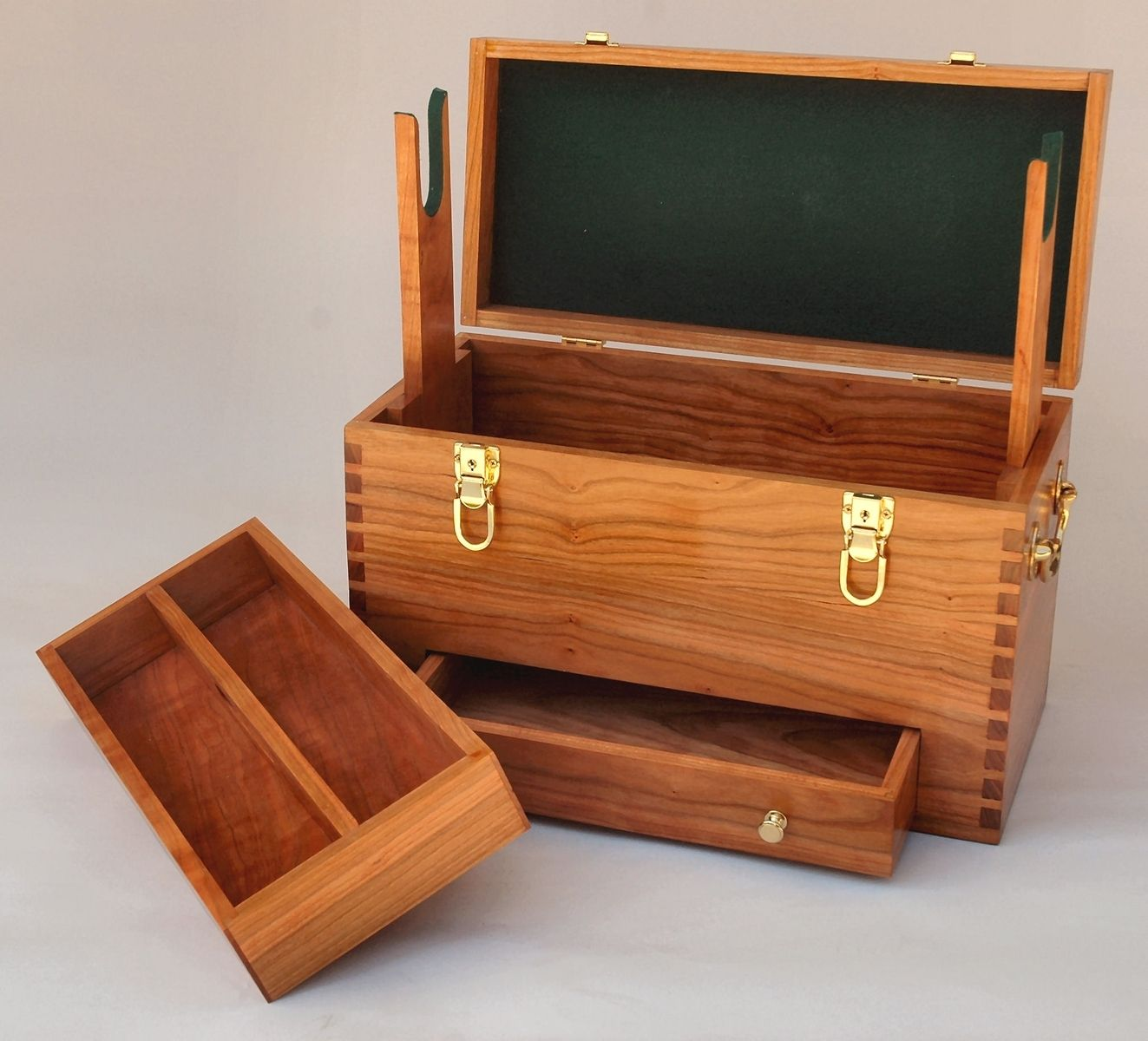 Hand Made Shotgun Cleaning Case With Drawer And Tray By