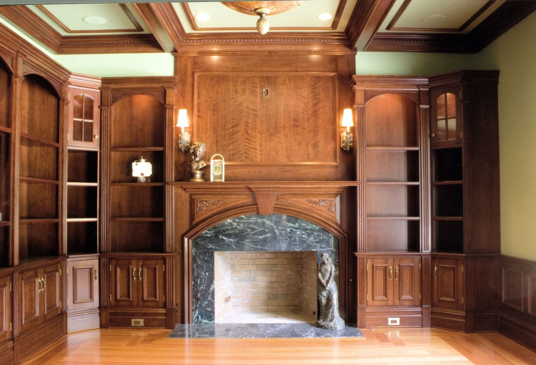 Custom Cherry Residential Library by Albert S. Grant Fine Woodworking And Design | CustomMade.com