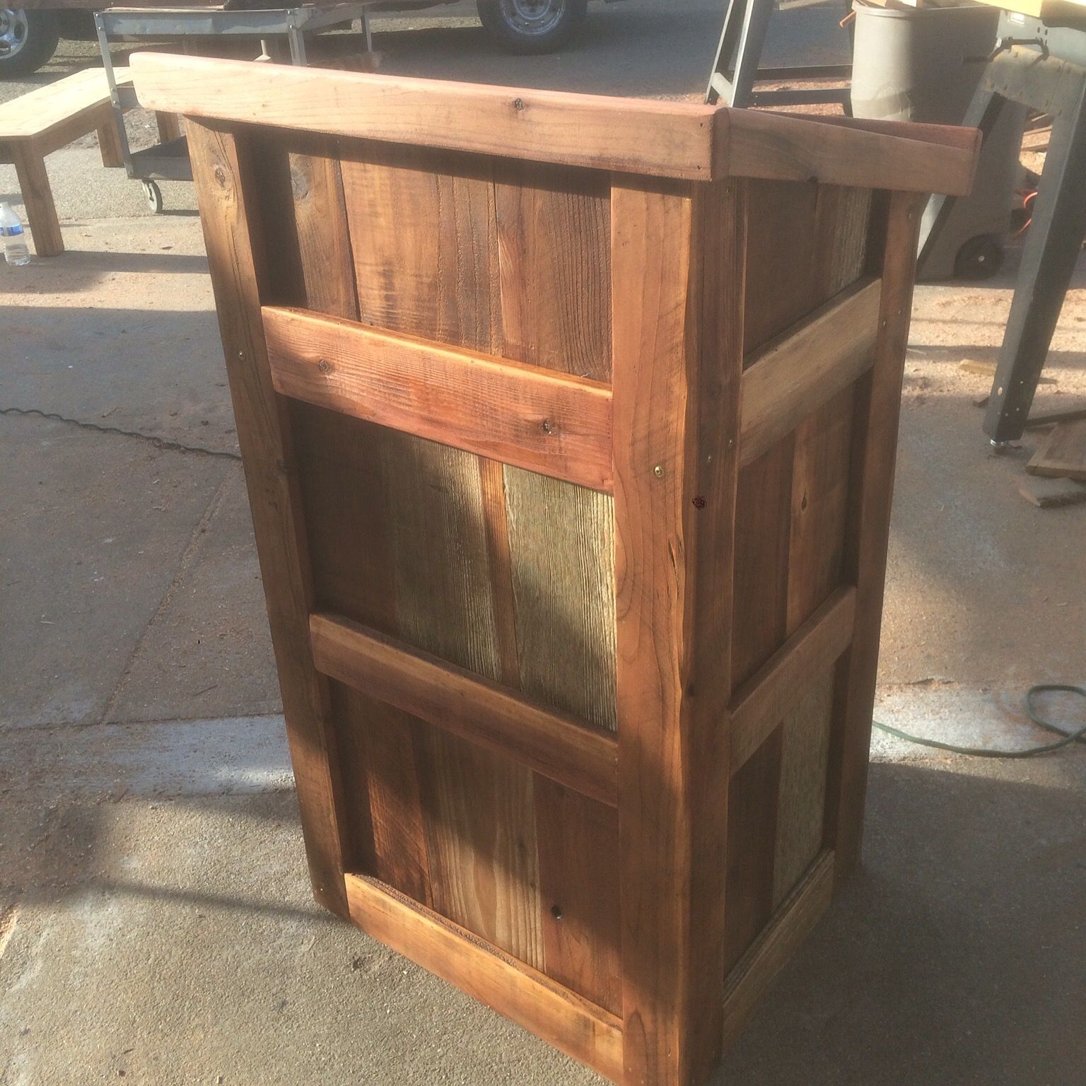 Hand Crafted Reclaimed Wood Podium By Urban Mining Company