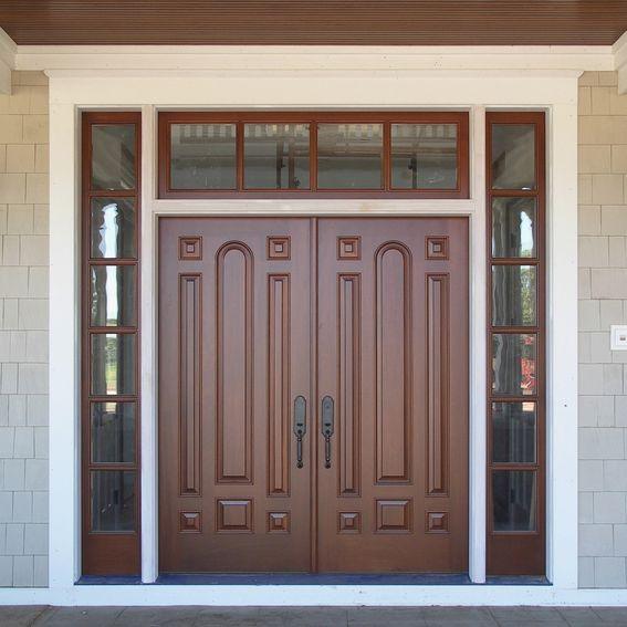 Hand Made Exterior Mahogany Doors By Rockwood Door