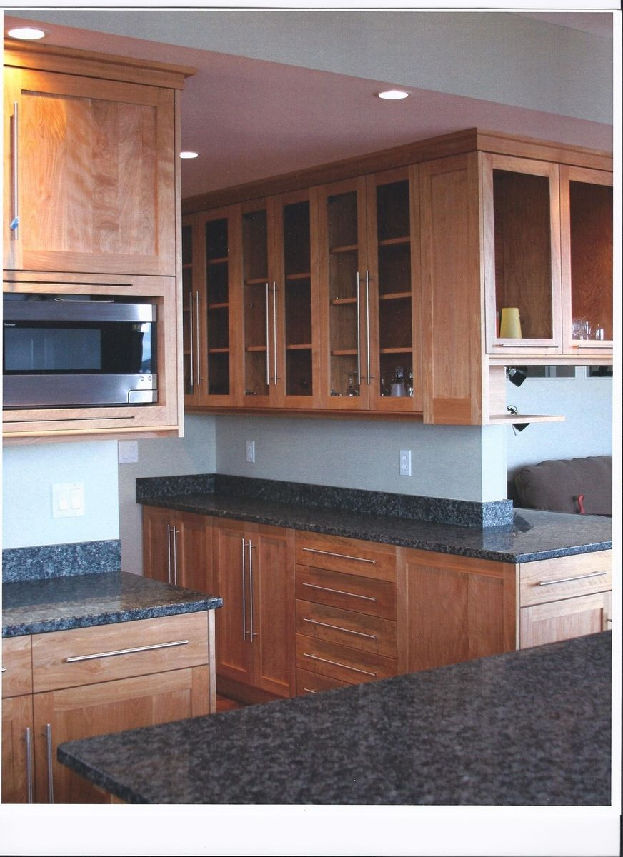 custom made contemporary red birch kitchenjim's