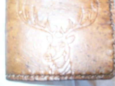 Custom Made Custom Leather Maverick Wallet With Deer Head Design