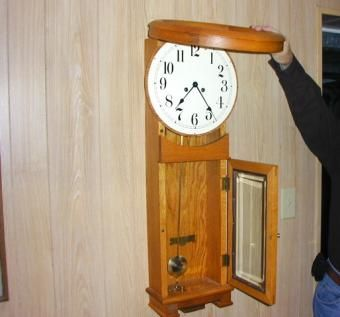 Custom Made Old School House Clock