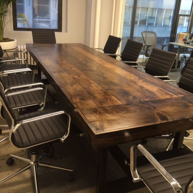 Handmade 10 Conference Table For Any Business Setting By