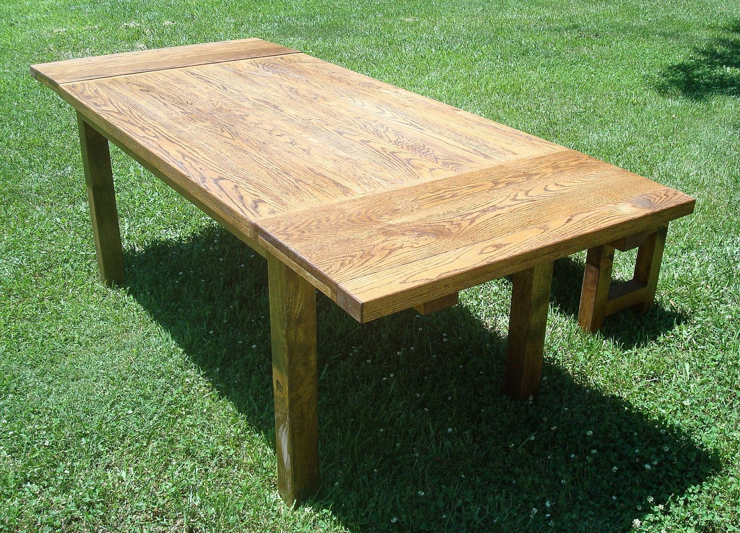 Buy Custom Harvest Table And Benches With Extensions Made