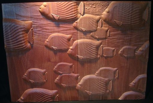 Custom Made Tropical Fish Cabinet Panels
