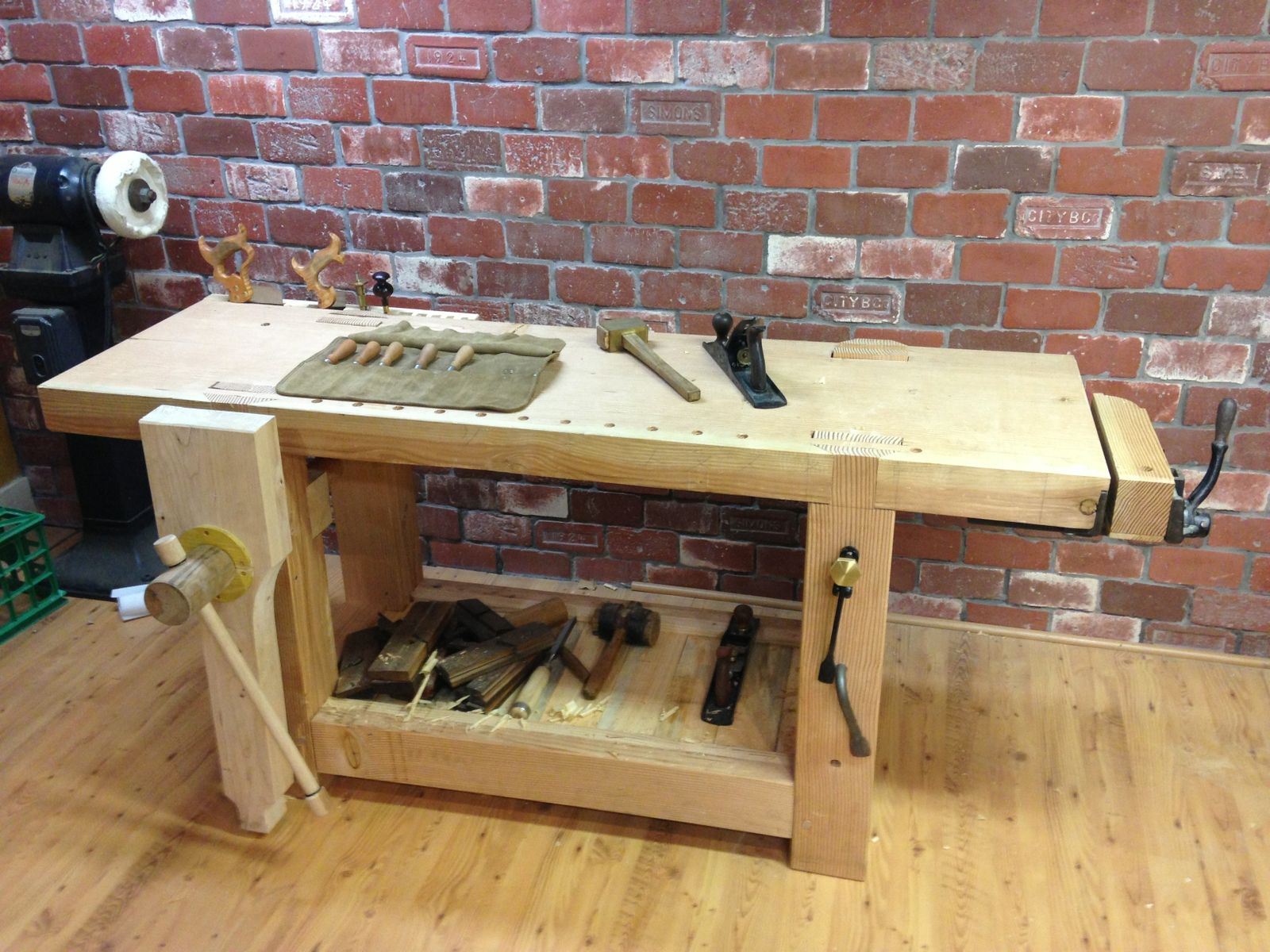 Custom Made French Roubo Workbench 18th C Style By