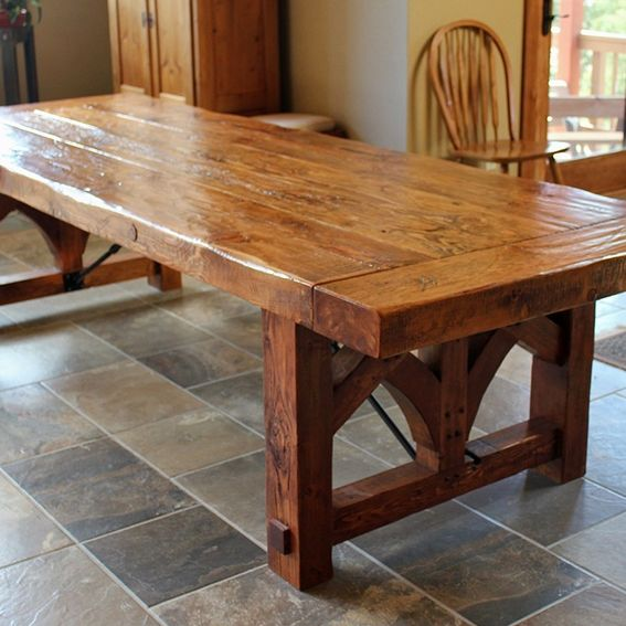 Furniture Dining And Kitchen Tables Farmhouse Industrial: Custom Farmhouse Dining Table By Sentinel Tree Woodworks