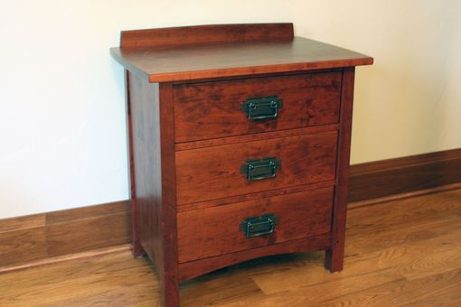 Custom Made Three Drawer Night Table