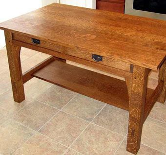 Custom Made White Oak Mission Desk