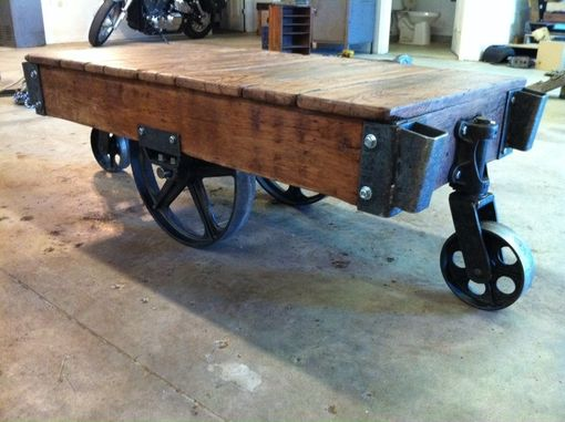 Custom Warehouse Cart Coffee Tables By Iron Hammer Designs